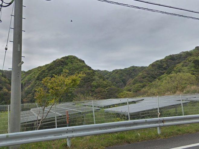 富津市山中太陽光発電所3の全景写真