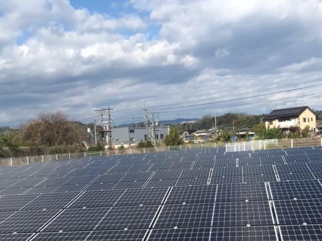安中市二軒在家太陽光発電所1の全景写真