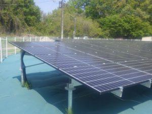 比企郡小川町太陽光発電所の全景写真