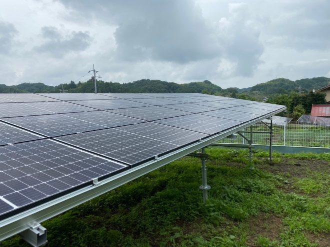 安中市下後閑太陽光発電所2の全景写真