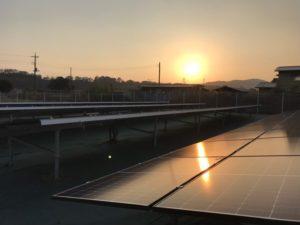 高崎市町屋町太陽光発電所の全景写真