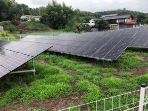 安中市下後閑太陽光発電所1の全景