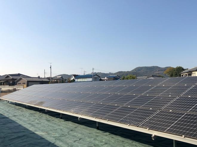 太田市丸山町太陽光発電所の全景写真