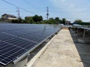 前橋市泉沢町太陽光発電所の全景写真
