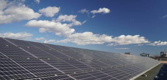 館林市成島町太陽光発電所3の全景写真