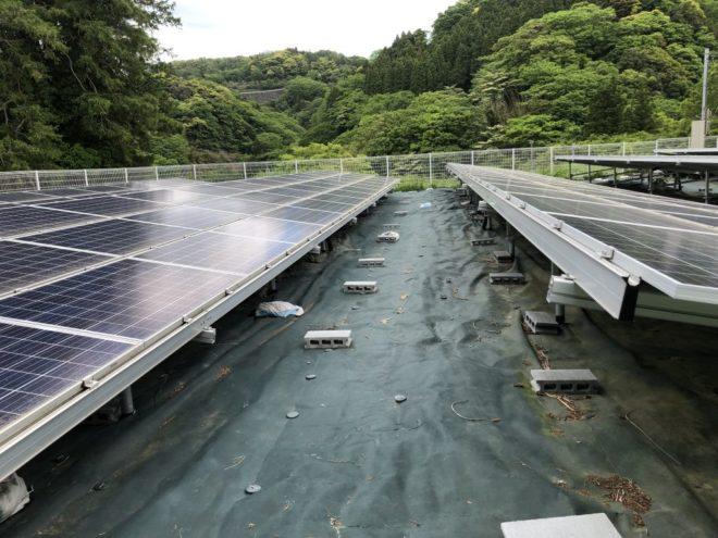 富津市山中太陽光発電所2の全景写真