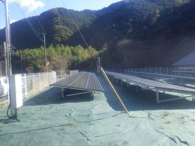 桐生市梅田町太陽光発電所1の全景写真