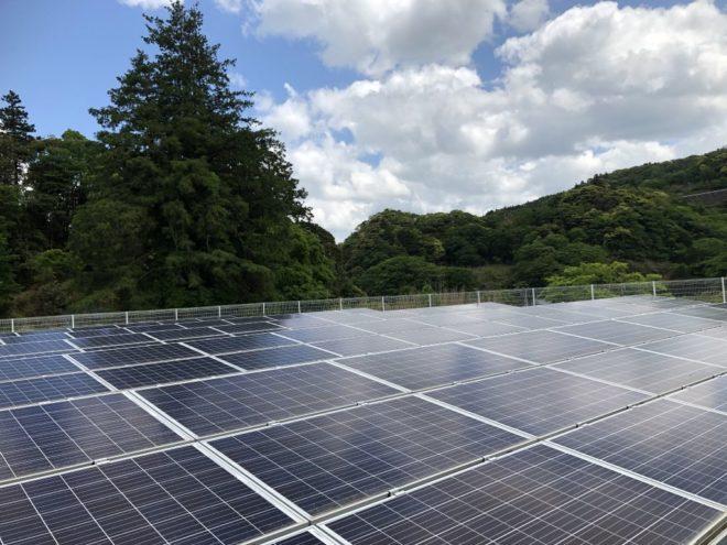 富津市山中太陽光発電所1の全景写真