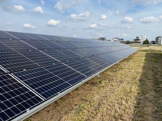 館林市成島町太陽光発電所2の全景写真