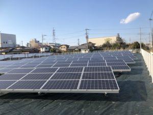 邑楽郡千代田町太陽光発電所1の全景写真