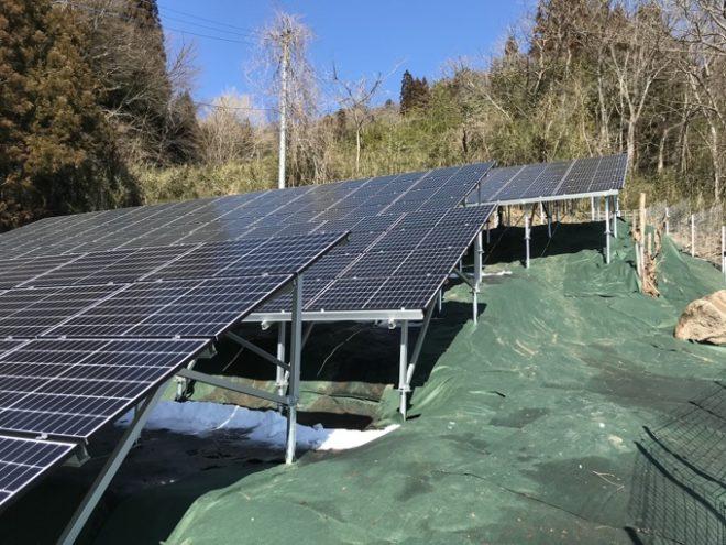 吾妻郡中之条町太陽光発電所1の全景写真