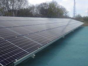 藤岡市東平井町太陽光発電所の全景写真