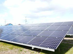太田市由良町太陽光発電所の全景写真