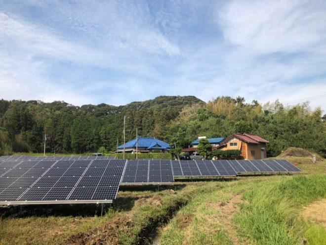 富津市亀田太陽光発電所の全景写真