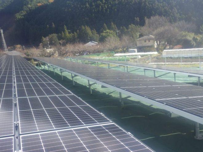 桐生市梅田町太陽光発電所2の全景写真