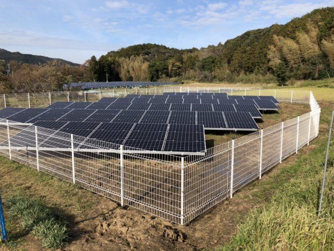 君津市東日笠太陽光発電所の全景写真